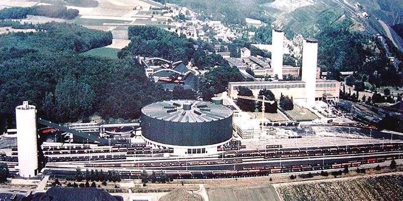 Luftaufnahme der Kohleaufbereitungsfabrik Sophia Jacoba in Hückelhoven