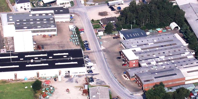 Luftaufnahme vom Firmengelände der WAT in Hamminkeln