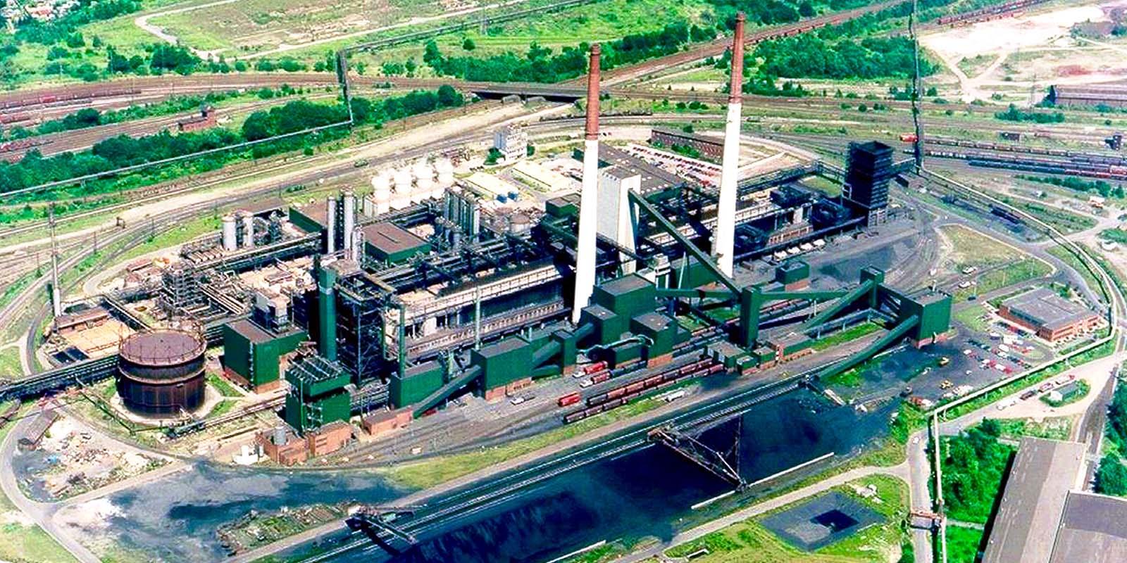Luftaufnahme der Kokerei Kaiserstuhl in Dortmund