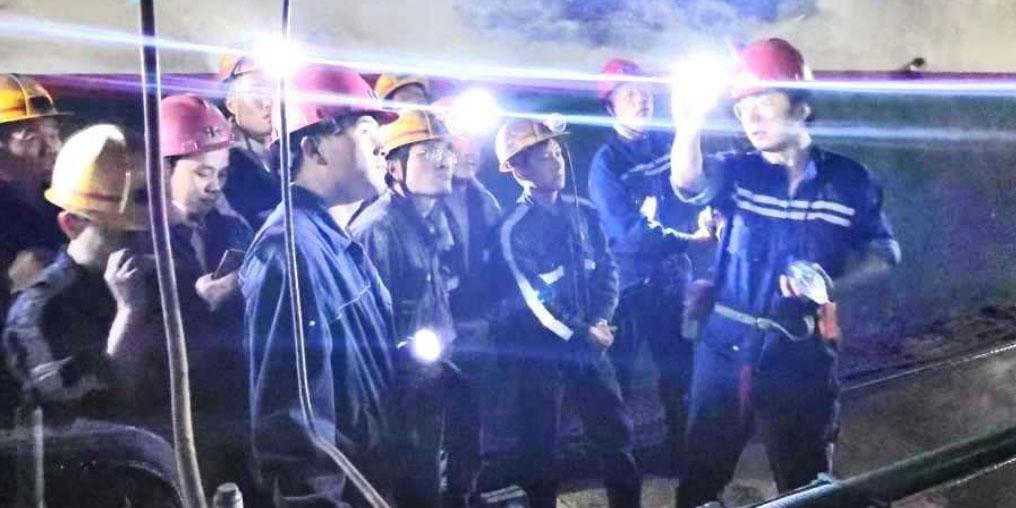 Mitarbeiter in der Kohlenmine Chenmanzhuang